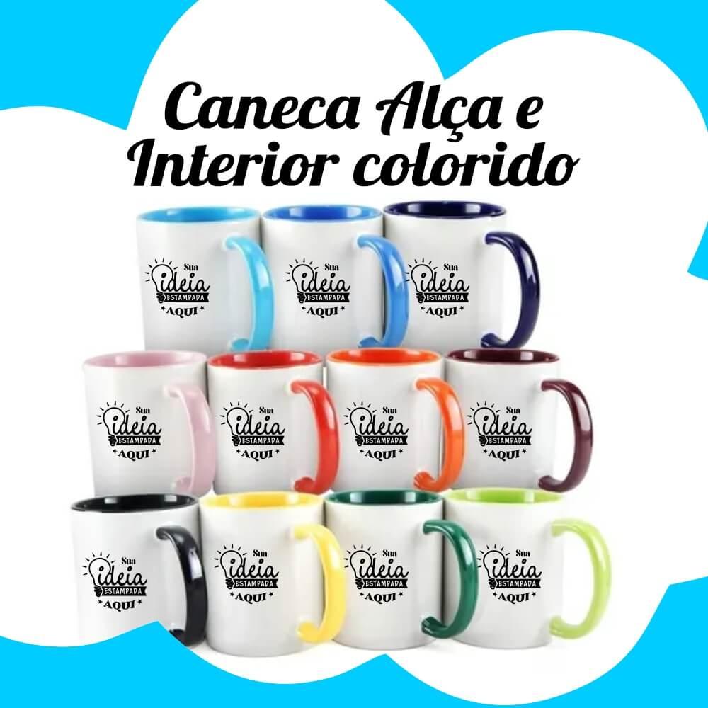 Caneca – Alça e Interior Colorida – 325ml