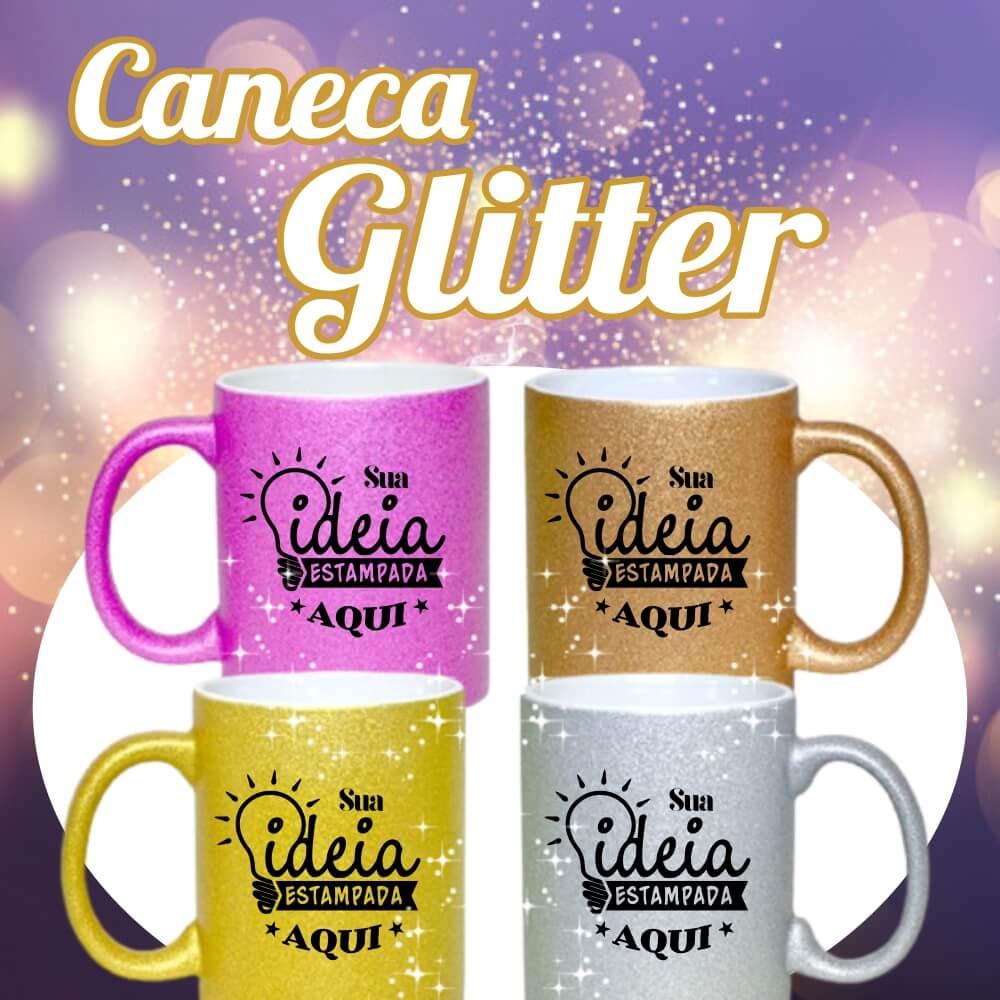 Caneca Glitter –  325ml