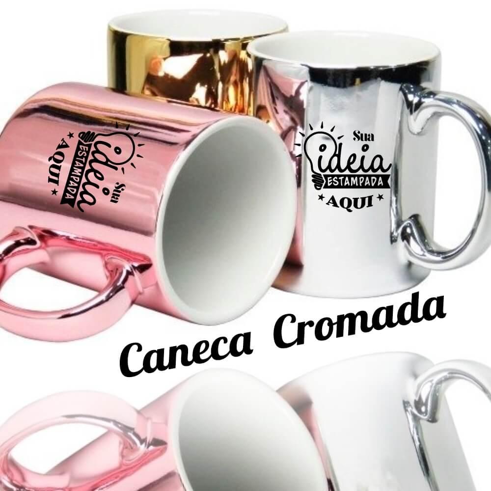 Caneca Metalizada/ Cromada/ Espelhada –  325ml