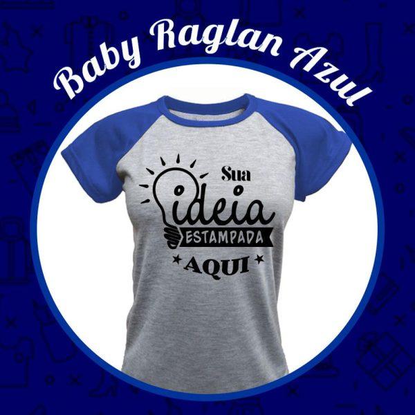 Baby Raglan azul