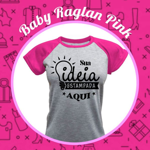 Baby Raglan rosa