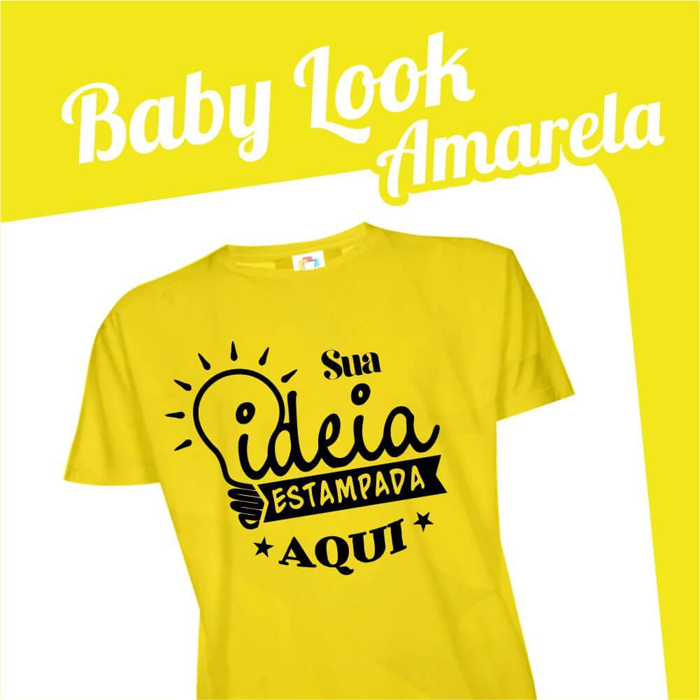 Baby Look Amarela