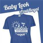 Baby Look Azul Royal