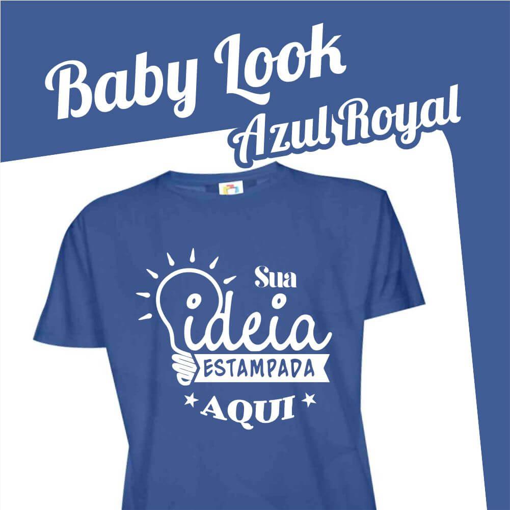Baby Look Azul Royal