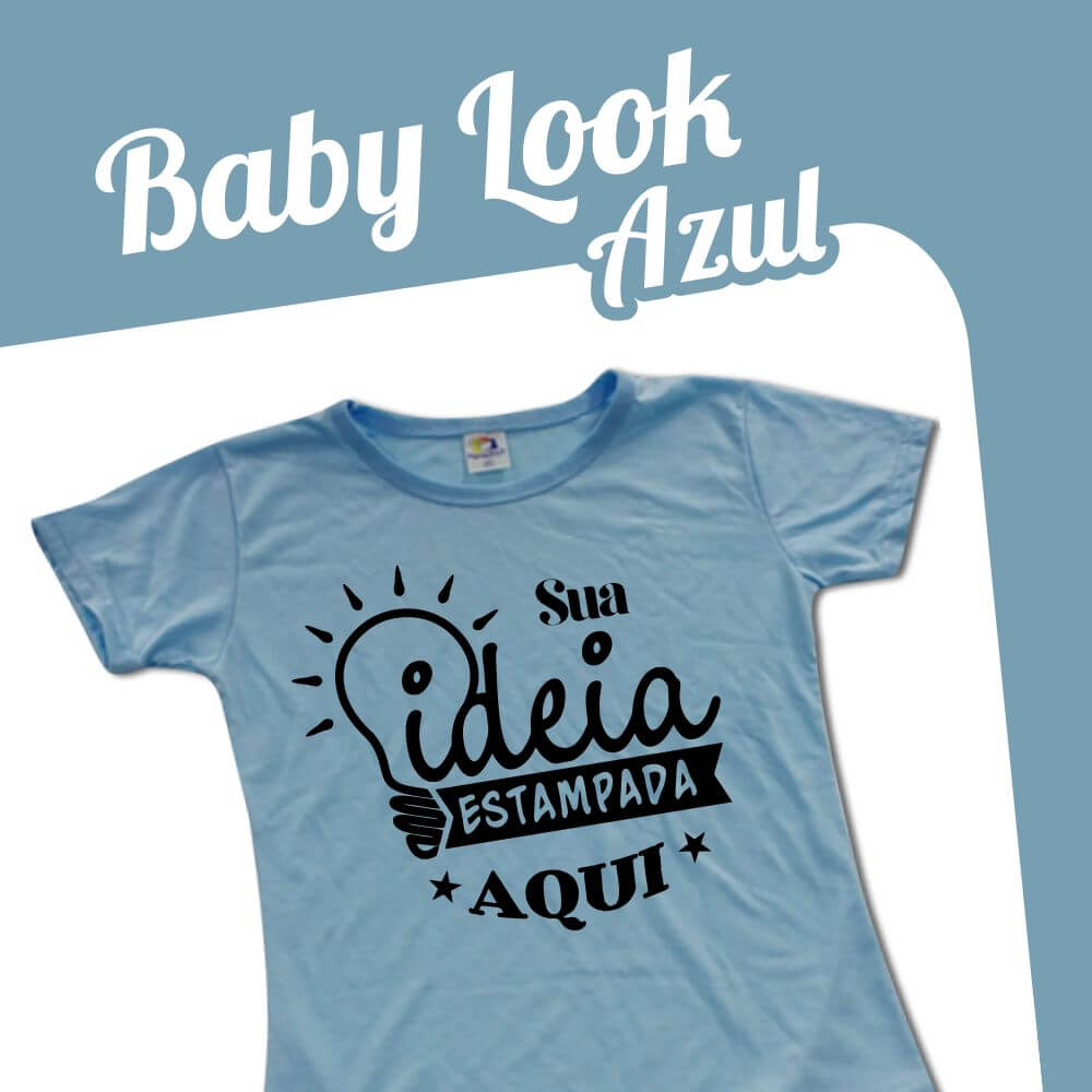 Baby Look Azul Claro