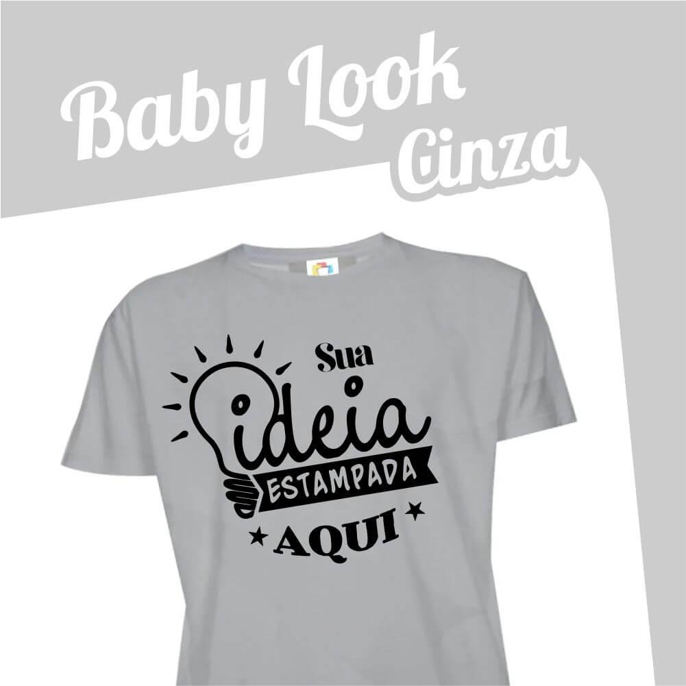 Baby Look Cinza