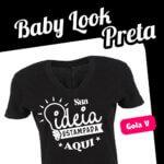 Baby Look Preta Gola V