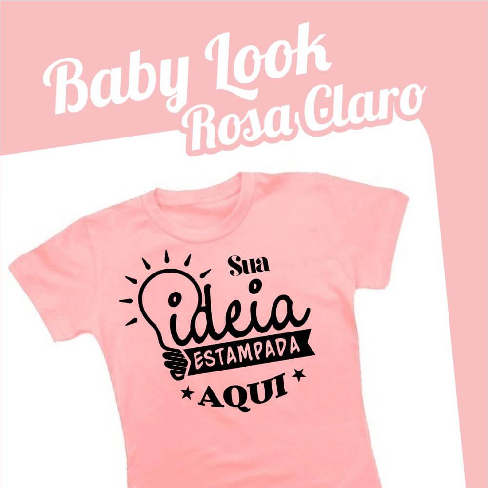 Baby Look Rosa Claro