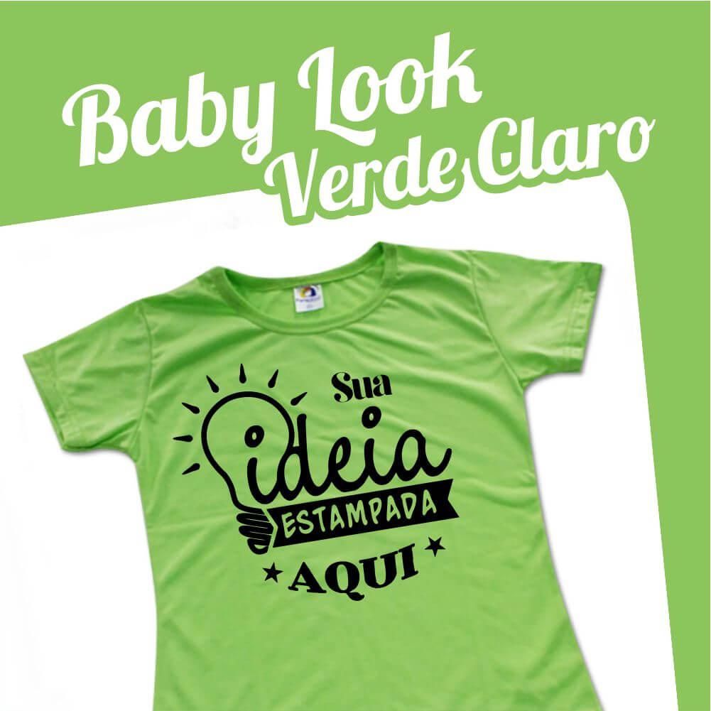 Baby Look Verde Claro