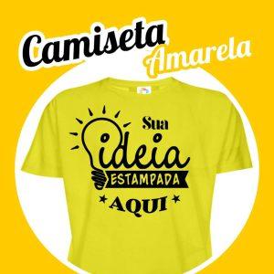 Camiseta Poliéster Amarela