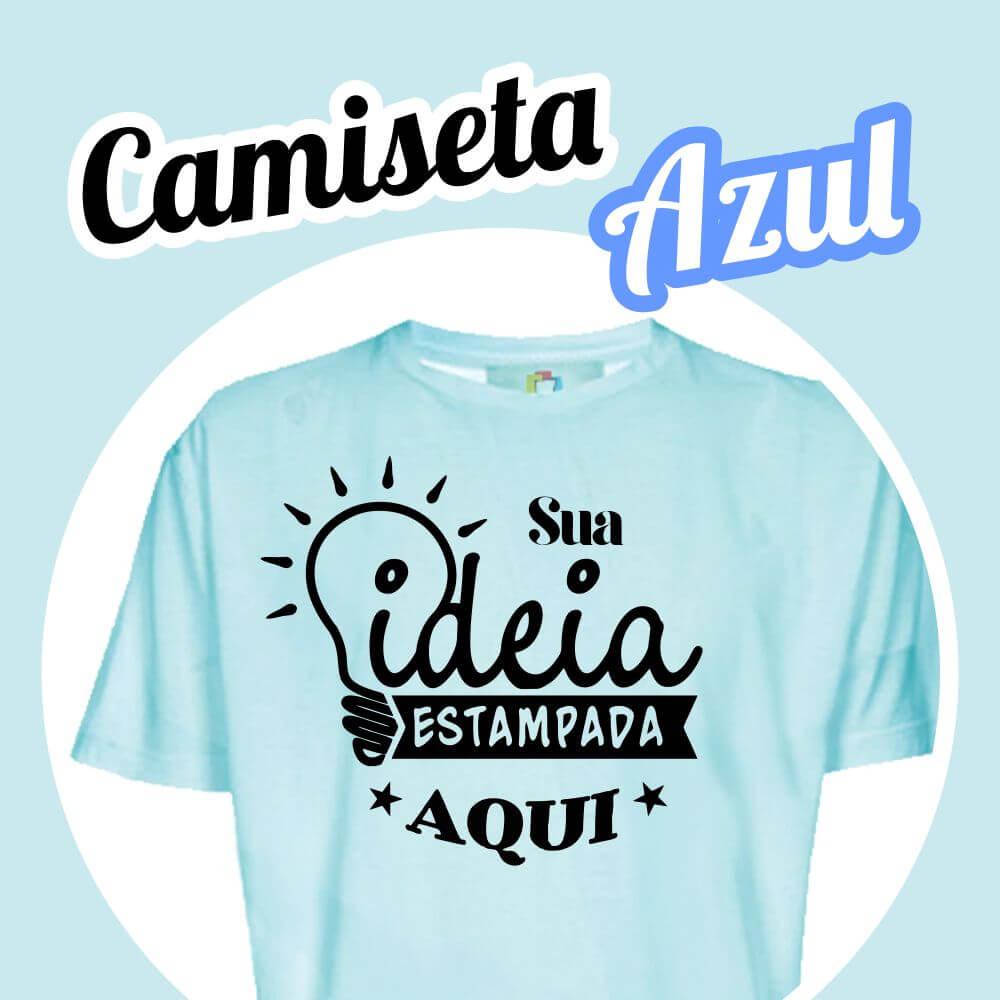Camiseta Poliéster Azul Claro