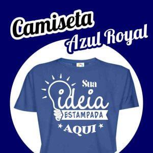 Camiseta Poliéster Azul Royal