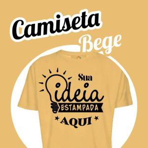 Camiseta Poliéster Bege