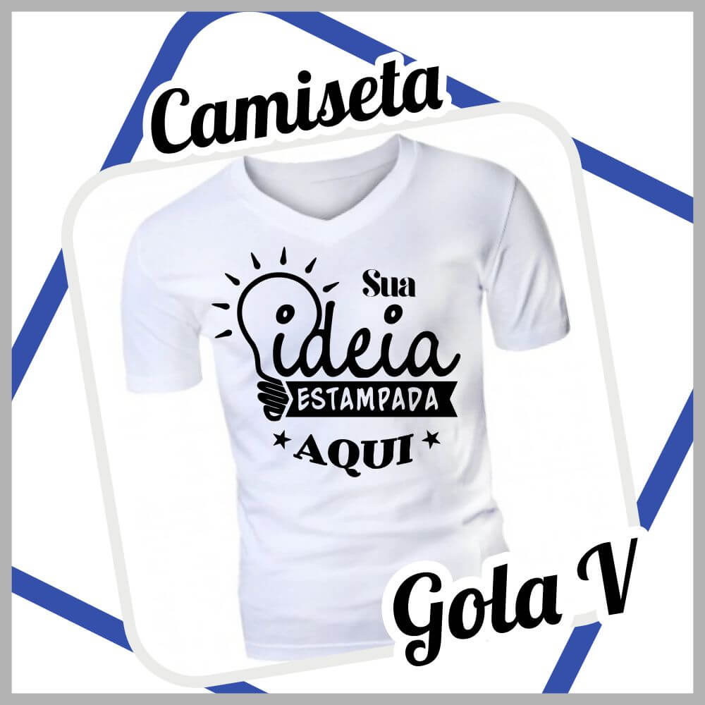 Camiseta Branca – Gola V
