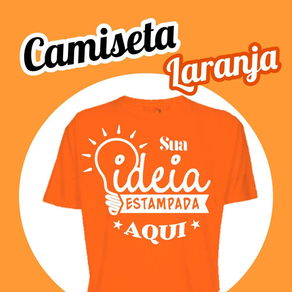 Camiseta Poliéster Laranja
