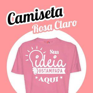 Camiseta Poliéster Rosa Claro
