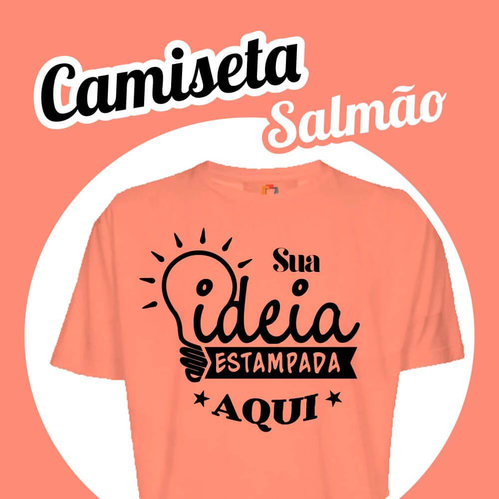 Camiseta Poliéster Salmão