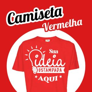 Camiseta Poliéster Vermelha