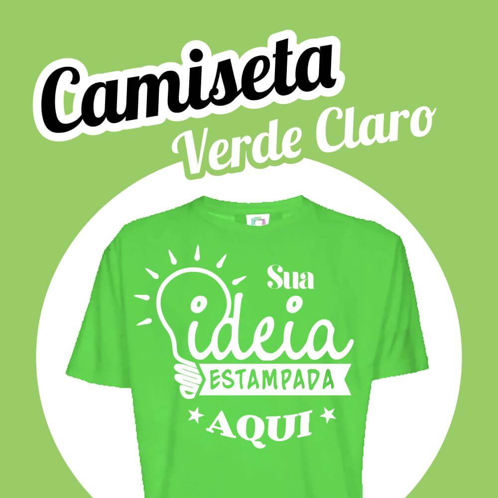 Camiseta Poliéster Verde Claro