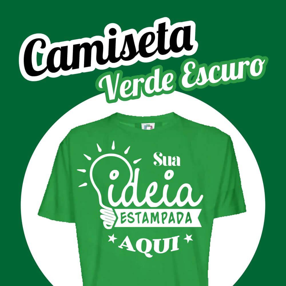Camiseta Poliéster Verde Escuro
