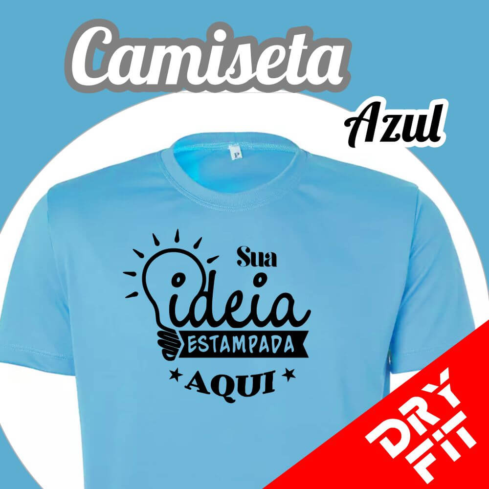 Camiseta  Dry Fit – Azul