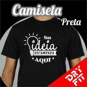 Camiseta  Dry Fit – Preta