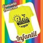 Camiseta Infantil Amarela