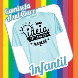 Camiseta Infantil Azul Claro