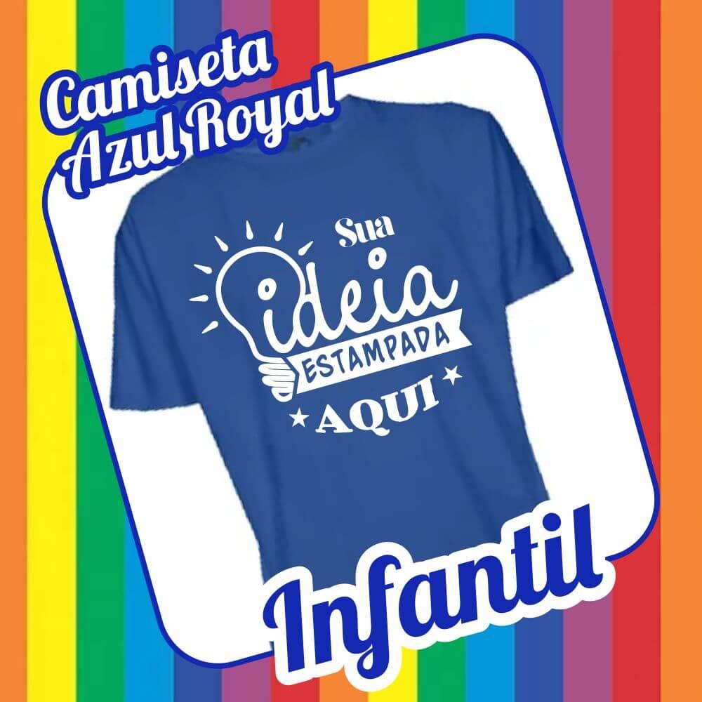 Camiseta Infantil Azul Royal