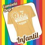 Camiseta Infantil Bege