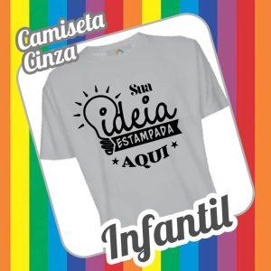 Camiseta Infantil Cinza Liso