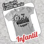 Camiseta Infantil Cinza Mescla