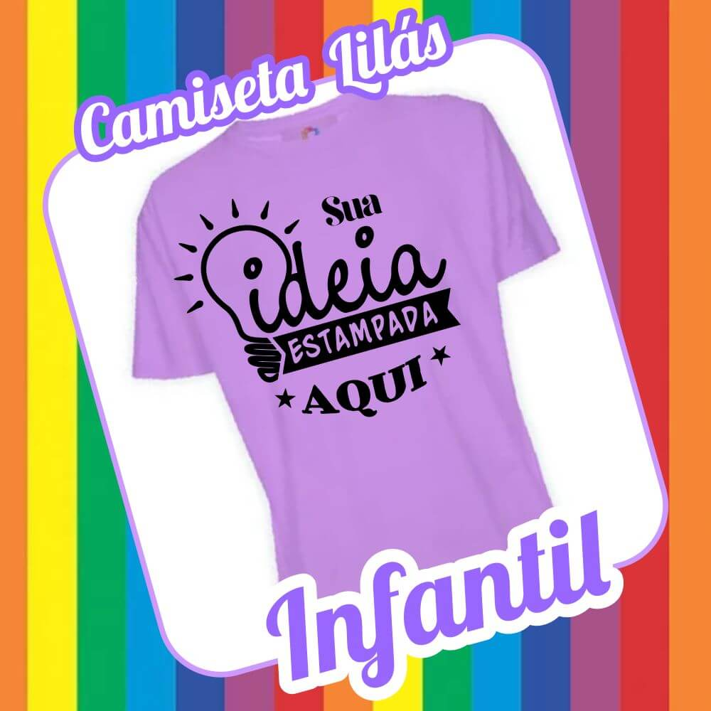 Camiseta Infantil Lilás