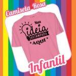 Camiseta Infantil Rosa