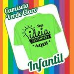 Camiseta Infantil Verde Claro