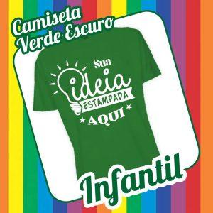 Camiseta Infantil Verde Escuro