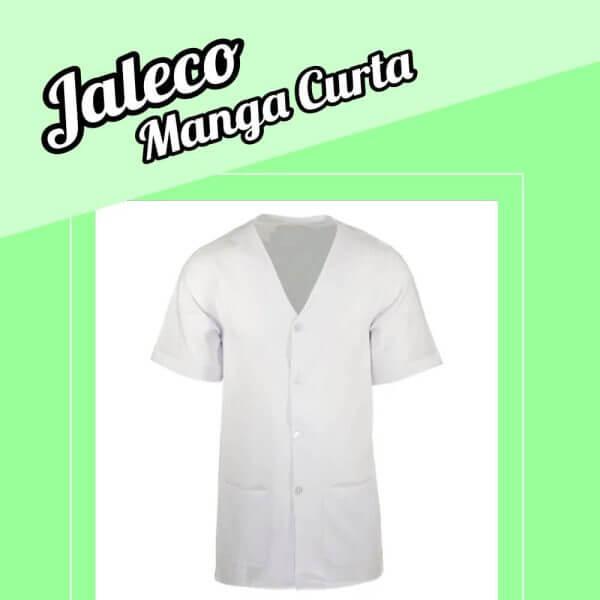 Jaleco manga curta