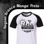 Camiseta Raglan Branca – Manga Preta