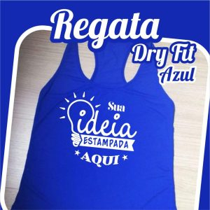 Regata Dry Fit Azul