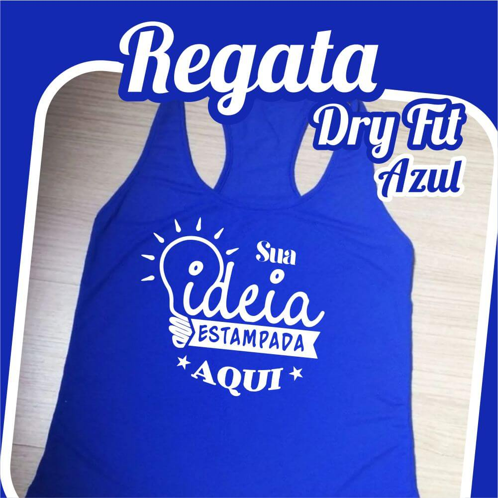 Regata Dry Fit Azul