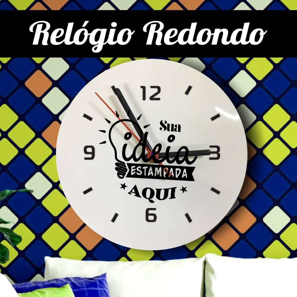 Relógio Azulejo Redondo 20x20cm