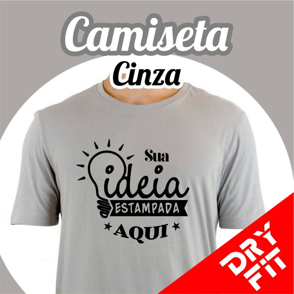 Camiseta  Dry Fit – Cinza