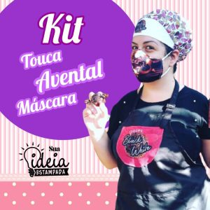 Kit: Avental + Touca + Máscara