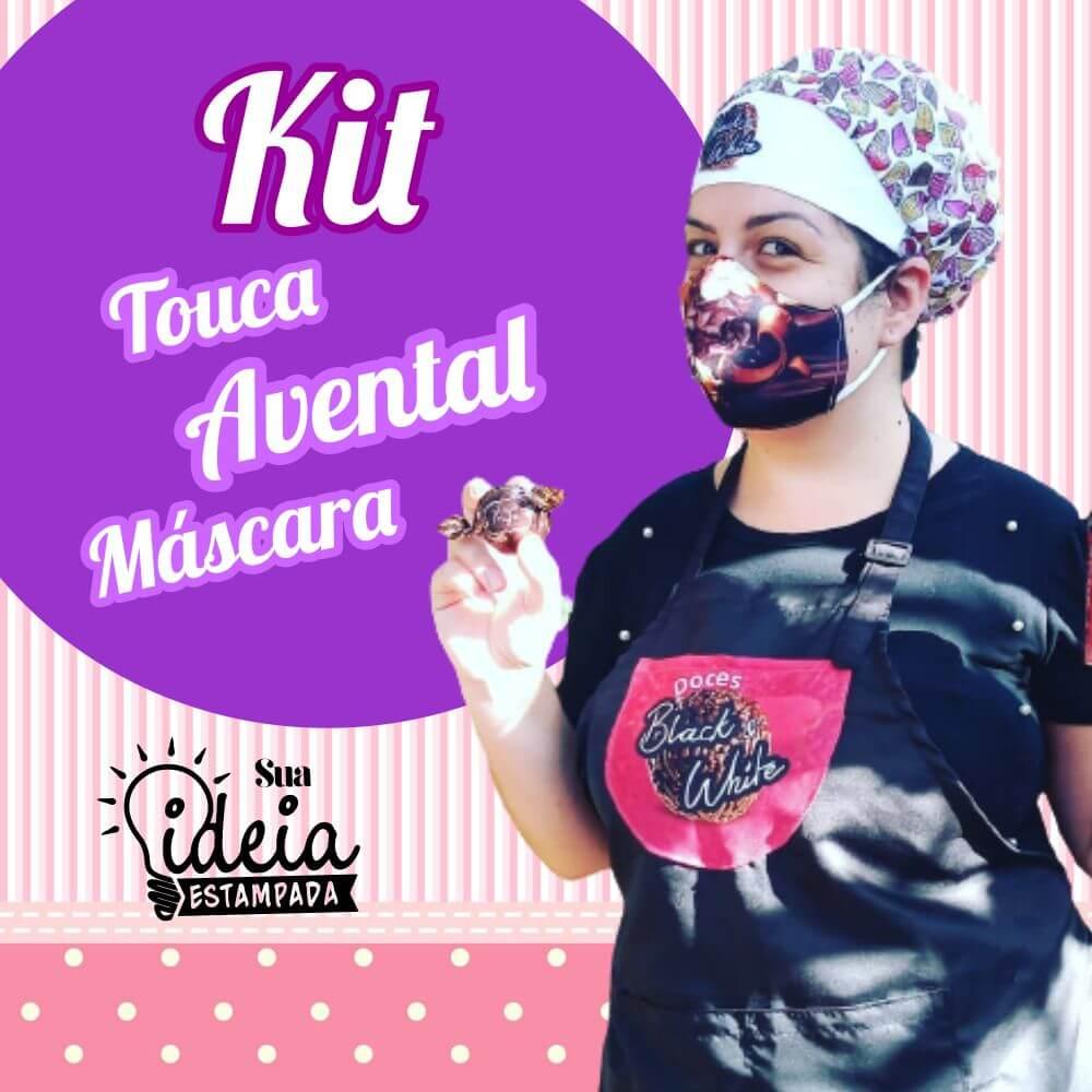 Kit: Avental + Touca + Máscara
