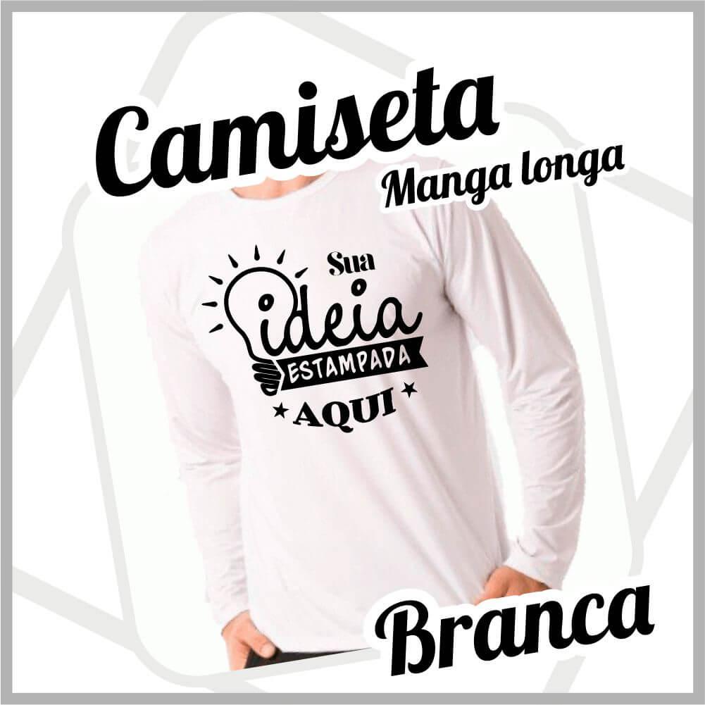 Camiseta Manga Longa Branca