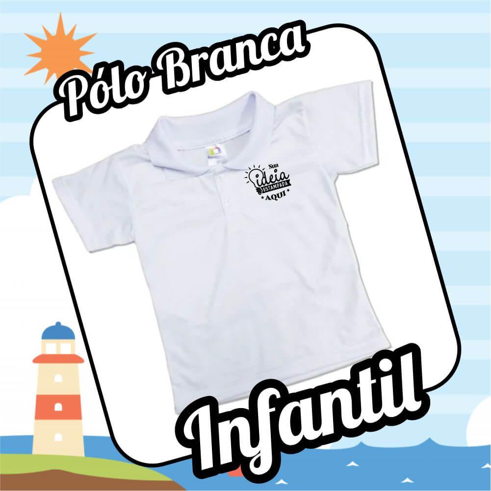 Camiseta POLO BRANCA – Infantil