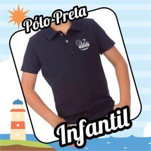 Camiseta POLO PRETA – Infantil