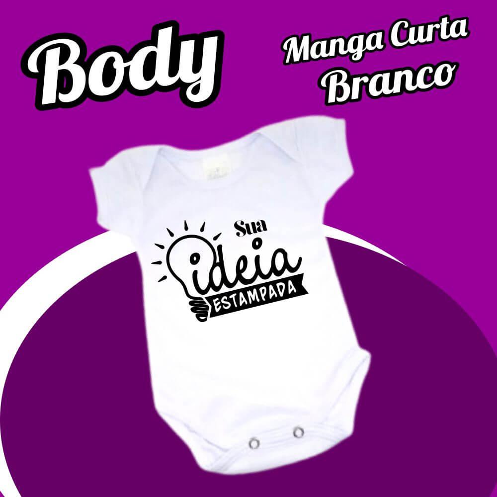 BODY Bebê Manga Curta – Branco