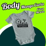 BODY Bebê Cinza Mescla – Manga Curta