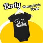 BODY Bebê Manga curta – Preto